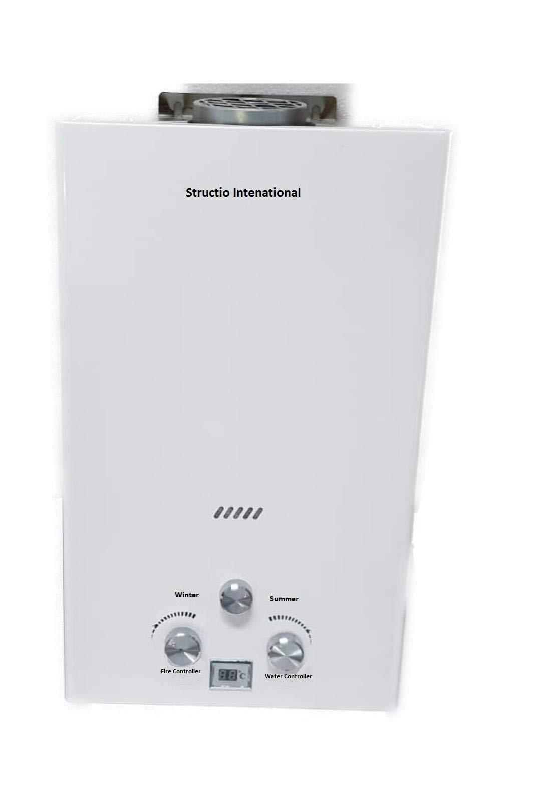 Calentador de gas Agua Caldera Caldera Gas Calentador–Calentador de agua portátil camping ducha 10litros camping ducha Caballos ducha