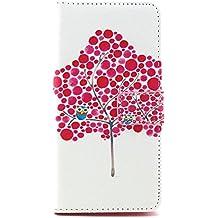 Funda para Moto G3 - Yihya Folio Carcasa de Cuero PU Flip Wallet Bookstyle Case Cover para Motorola Moto G G3(3rd Gen, 2015) con Stand Función, Card Slots + Stylus Pen--Stil 05