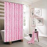 LILI Duschvorhang verhindern Schimmel Dick Wasserdicht Duschvorhänge in flexiblen Polyester für Den Schutz der Umwelt (Größe: 80 * 200 cm)