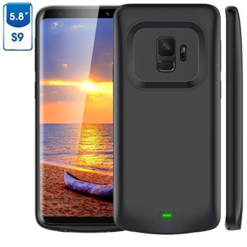 Funda Bateria Galaxy S9, Vobon 4700mAh Batería Externa, Portatil Recargable Cargador de Bateria Carcasa Protectora para Samsung Galaxy S9 (Negro)