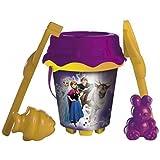 Feliz Set de cubo / Conjunto para escarbar / Cubo de playa Disney Frozen - La Reina Del Hielo 6 teilig con Anna, Elsa, Olaf, Sven y Kristoff