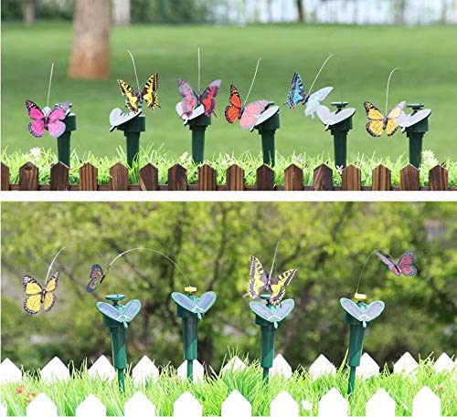 Solar Fluttering Hummingbird,Dual (Solar/Battery) Power Fluttering Flying Dancing Bird, Outdoor or Indoor, Solar Powered or Battery Powered Garden Decoration 5