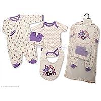 Nursery Time nt0671fantastico regalo Layette cotone, 5pz. Unisex, per bambini di neonato, 0–3mesi, 3–6mesi
