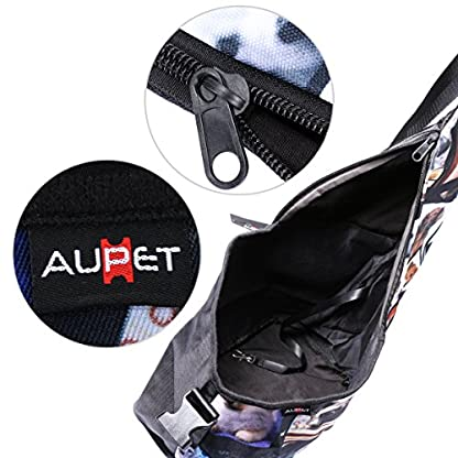 AUPET Oxford Outdoor Pet Carriers, Hands-Free Puppy Cats Small Dog Travel Bag (Dog Carrier-01) 3