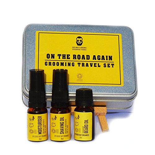 'On The Road Again' pour homme de toilettage de voyage – Vegan et cruauté gratuit/Bio – 100% naturel. Fabriqué au Royaume-Uni (3 x 10 ml)