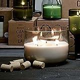 MUNIO CANDELA Duftkerze Villa in Einer recycelten 3-Liter Weinflasche aus Soja-Wachs 'Big Jar Candle' - 900ml, Duft:Green Leaf - Pfefferminz-Aroma