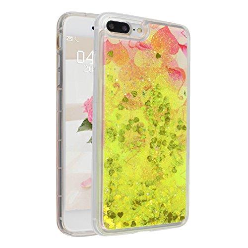 Case iPhone 7 Plus Treibsand Schale 5.5 Zoll, iPhone 7 Plus Flüssig Hülle, Moon mood® iPhone 7 Plus Durchsichtige Handyhülle 3D Creative Case Mode Bunten Transparente Kristallklaren Sparkly Silikon TP Stil 24
