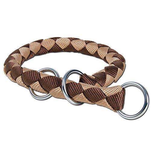 Cavo collier semi-étrangleur, L: 43-51 cm/ø 18 mm, brun/beige