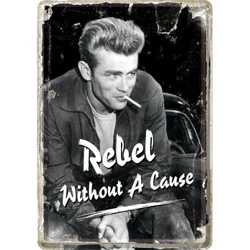 Nostalgic-Art 10167 Celebrities - James Rebel -  ... Denn sie wissen nicht, was sie tun , Blechpostkarte 10x14 cm