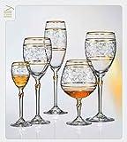 Kristall Bohemia Lilly Gold, 6 er Set, Bohemia Cristal (Weinglas 6 x 250 ml)
