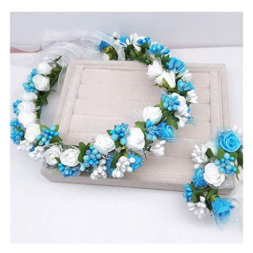 opfschmuck Künstliche Blume Stirnband Handgelenk Blume Anzug Mädchen Geburtstagsfeier Zubehör &Blumenkranz (Farbe : B) ()