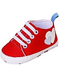 Zapatos Bebe Niño Niña 0-18 meses Fossen Recien Nacido Primeros Pasos de Antideslizante Suela Suave Dibujos Animados Zapatillas con Cordones