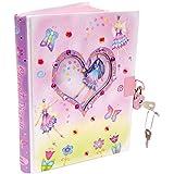 Kids Pink Fairy & Butterfly Secret Diary (With Padlock & Keys) Lucy Locket