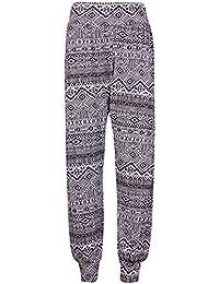 Purple Hanger - Pantalon Femme Harem Aztèque Tête Mort Long Grand Taille