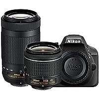 Nikon D3300 24.2MP Digital SLR (Black) + AF-P DX NIKKOR 18-55mm f/3.5-5.6G VR Lens + AF-P DX NIKKOR 70-300mm f/4.5-6.3G…
