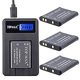 TOP-MAX® 3X EN-EL19 Li-Ion Battery + USB Charger (LED Screen) for Nikon Coolpix S32 S100 S2500 S2550 S2600 S2700 S2750 S3100 S3200 S3300 S3400 S3500 S3600 S4100 S4150 S4200 S4300 S4400 S5200 S6400 S6500 S6600 S6700 S6800 S6900 S7000