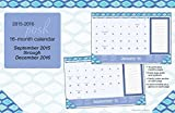 Posh: Indigo 2015-2016 16-Month Desk Pad Calendar: September 2015 through December 2016 by Kate Spain (2015-06-09)