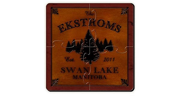 Personalized Gift Cabin Series Coaster Puzzle Amazon In Toys Games
