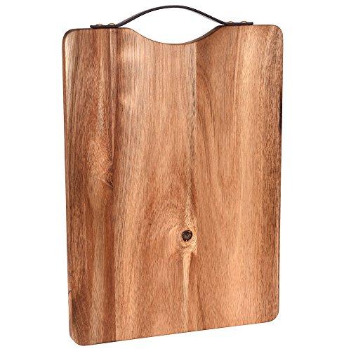 fdd147ffc0c5b Excellent Houseware Planche à découper en Bois Ø 36 x 26 x 2 cm