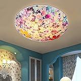 JU Excellent Nordic Schlafzimmer Deckenleuchten Flash Continental Cosy Parlour Garten Mittelmeer Tiffany Lampe Circular Ceiling,S (Durchmesser 30cm)