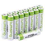 Lumsing 16 Stück AAA Akku 1100mAh Ni-MH Wiederaufladbare Batterien Mit Batterie Speichern Box