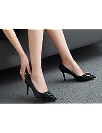 MDRW-Signora/Elegante/Lavoro/Tempo Libero/Primavera 8Cm Alto Scarpe Con Tacco Scarpe Donna Tacco Fine Testa…