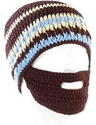 Bonnet avec barbe - Marron / bleu