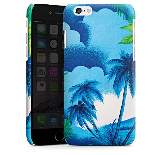 Apple iPhone 6 Housse Étui Silicone Coque Protection Vacances Palmiers Hawaï Cas Premium brillant