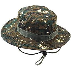 Yesmile Sombrero Gorra Ajustable Camuflaje Boonie Sombreros Gorra Nepalesa Sombrero de Pescador Militar Para Hombre (talla única, C)