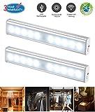 LED Sensor Lichtleiste usb Wiederaufladbar LED Schrankbeleuchtung Nachtlicht für Wandschrank, Kabinett, Dachboden, Flur (2 PACK)