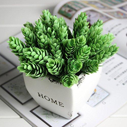 SODIAL Home Decor alta simulazione foglia di erba verde pianta di ananas Erba della decorazione della casa Pianta artificiale Fiore verde