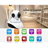 Royal Lite Wireless HD IP Wifi CCTV Indoor Security Camera Stream Live Video in Mobile or Laptop - (Support upto 128 GB SD card) (White Color).