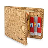Kork Geldbörse/Portemonee/ Geldbeutel Vegan mit Geld-Clip & Kartenfächern - HolyKork©