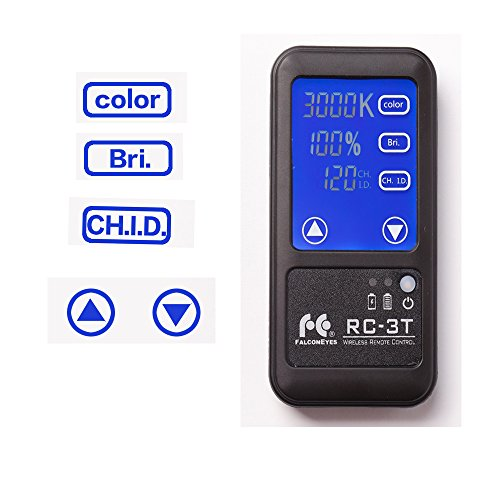 Falcon Eyes RC-3T 2.4G Wireless Remote Control with LCD Touch Screen Control for RX-24TDX/ RX-29TDX /RX-36TDX/RX-12TD/LP-2005TD / LP-2805TD / 2005TD Pro / 2000Pro (RC-3T Remote) 2.4 G Wireless-lcd