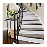 APSOONSELL Treppenaufkleber Kreative Dekoration Treppe Aufkleber im weißen Ziegelstein-Muster(18 * 100cm pro Stück und 6 Stück pro Paket)