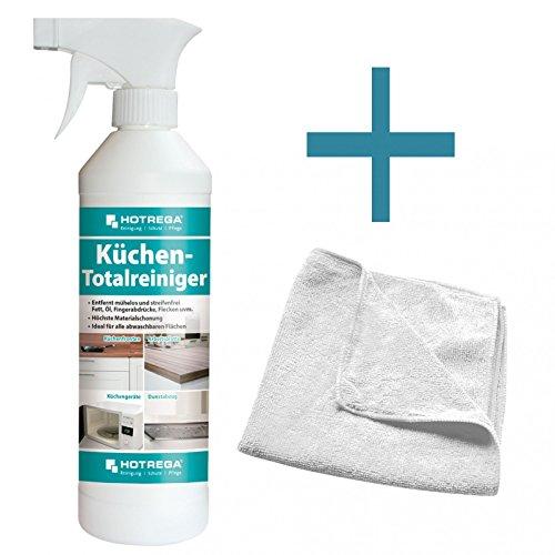 HOTREGA Küchen Totalreiniger 500 ml SET + Microfasertuch 40 x 40 cm
