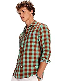 Scotch & Soda Camisa Cuadros Verdes