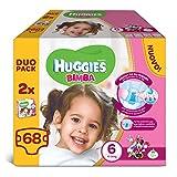 Huggies–Bimba–Windeln–Größe 6(15–30kg)–2x 34Windeln