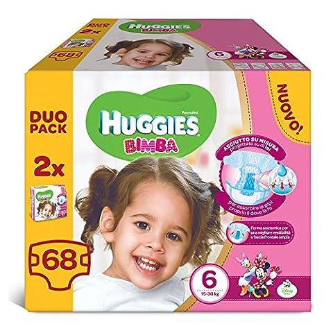 Huggies–Bimba–Windeln–Größe 6(15–30kg)–2x