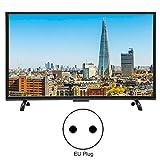 Wocume TV Televisore LCD Ultra Sottile 4K HD da 32 Pollici Risoluzione 32 Pollici 1920x1200 Versione Rete HDR 110V(EU Plug)