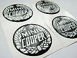 MINI COOPER Lot de 4 plastique emblème auto-adhésif Badge 50mm postuler pour caches moyeux
