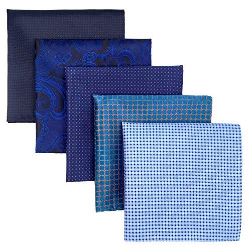 Shlax&Wing, 5Stück sortierte Taschentücher für Herren, quadratisch Gr. Einheitsgröße, Set24