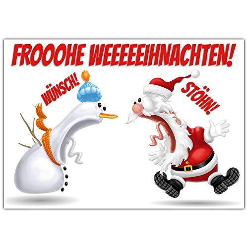 A4 XXL Weihnachtskarte KOLLEGEN mit Umschlag - edle und lustige Klappkarte für Kollegen Freunde Verwandte - Frohe Weihnachten Karte von BREITENWERK