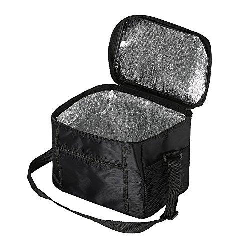 Interlink Kühltasche Kühlbox Isoliertasche Mittagessen Tasche Faltbar Groß für Picknick Camping 10L Schwarz