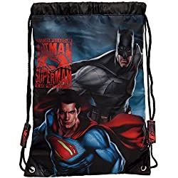 Warner Superman-Batman Mochila Infantil, 1.2 Litros, Color Gris