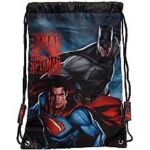 Warner Superman-Batman Mochila Infantil, 1.2 Litros, Color Gris