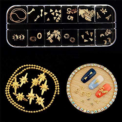 zhongjiany Nagelkunstrhinestones Fall sortierte Mischungs-Edelstein-Entwürfe spitzt UVgel-Dekoration DIY(Style02) (Gel Von Young Nails)