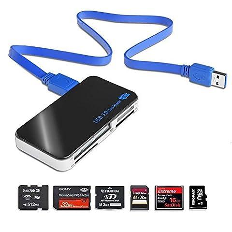 USB 3.0Super Speed lecteur de carte mémoire Compact Flash/Microdrive/SD/SDHC/micro SD/CF/MS/MS