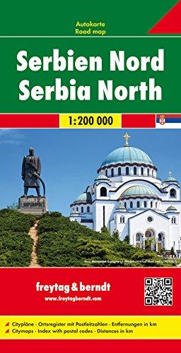 Serbia norte, mapa de carreteras. Escala 1:200.000. Freytag & Berndt. por VV.AA.