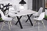 Endo Esstisch Endo Stol X 170 Metall Industrial Esszimmertisch Loft Loftdesign // Weiß Hochglanz